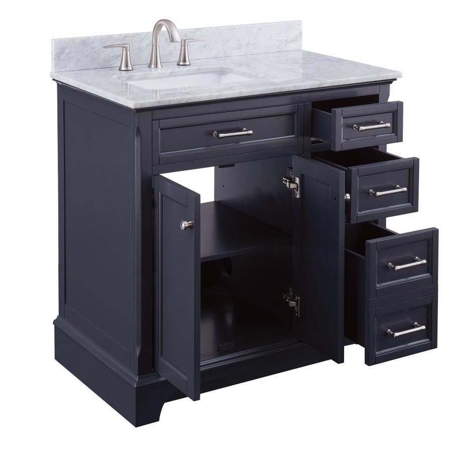 - Scott Living Roveland 36-in Dark Gray Single Sink Bathroom Vanity