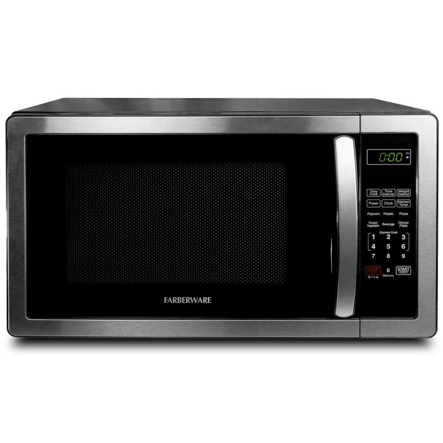 Farberware 1.1-Cu Ft 1000 Countertop Microwave (Stainless Steel/Black) Fmo11ahtbkb