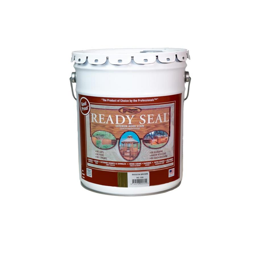 Ready Seal Pre-Tinted Mission Brown Semi-Transparent Exterior Stain And Sealer (5-Gallon) 535