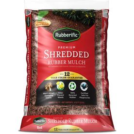 Shop Rubberific 0 8 Cu Ft Red Shredded Rubber Mulch