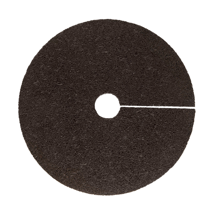 Shop Rubberific 24 In Brown Recycled Rubber Tree Ring At