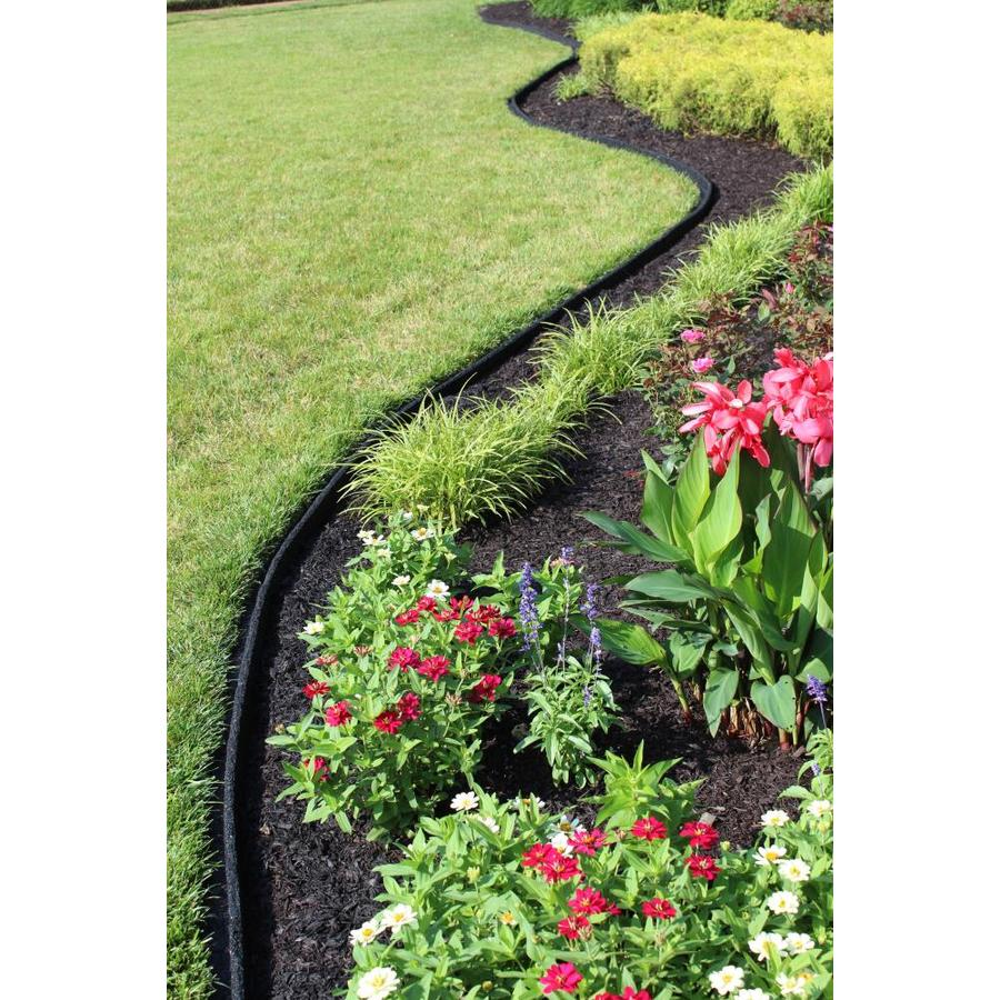 Rubberific 4 Ft Black Rubber Landscape Edging Section In The Landscape Edging Department At Lowes Com