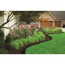 Rubberific 4 Ft Brown Rubber Landscape Edging Section In The Landscape Edging Department At Lowes Com