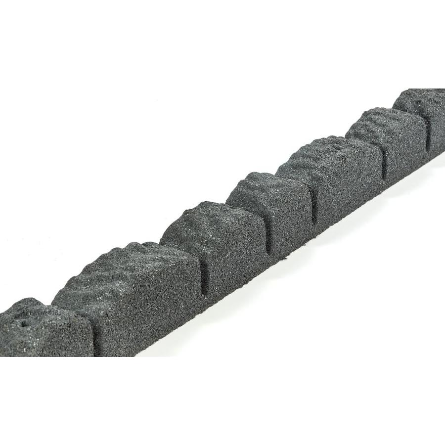 Rubberific 2 Pack 4 Ft Cobblestone Edging Gray 2 Pack 8 Ft Gray Rubber Landscape Edging Section In The Landscape Edging Department At Lowes Com