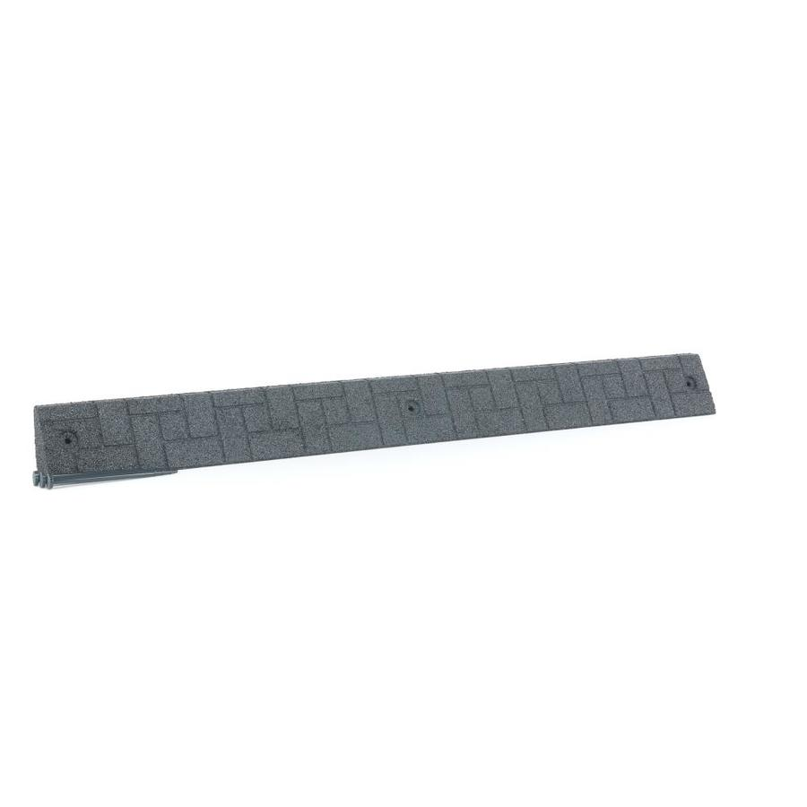 4-ft Gray Rubber Landscape Edging Section | - Rubberific RTCE4GY