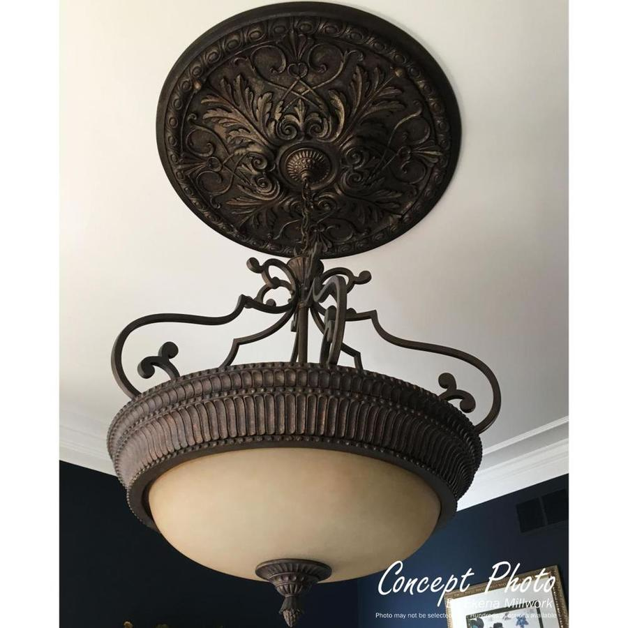 Ekena Millwork Oakleaf 29 125 In X 29 125 In Primed Polyurethane Ceiling Medallion In The Ceiling Medallions Department At Lowes Com