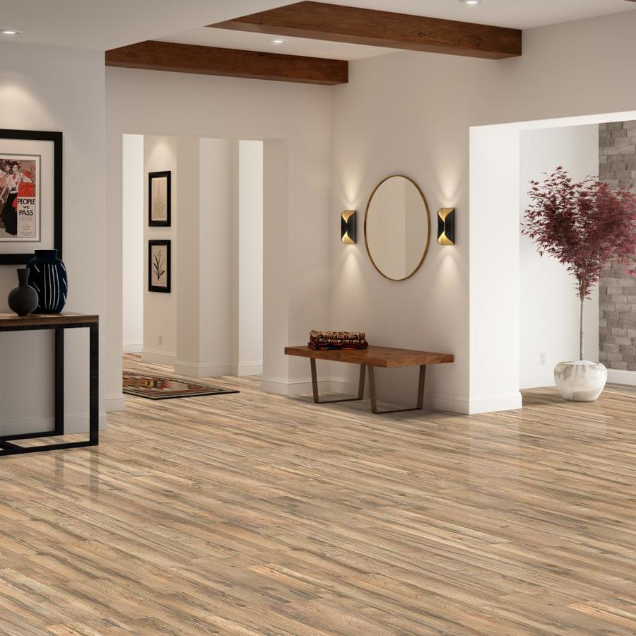 Style Selections Tavern Oak 7 59 In W X 4 23 Ft L Embossed Wood