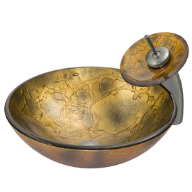 display product reviews for vessel sink u0026 faucet set copper glass vessel round bathroom sink with