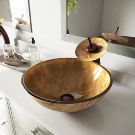 bathroom vessel sinks. Display product reviews for Vessel Sink  Faucet Set Mahogany Moon Glass Round Bathroom Shop Sinks at Lowes com
