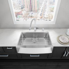 display product reviews for 36 in x 20 in premium satin single basin - Farmhouse Sink Lowes