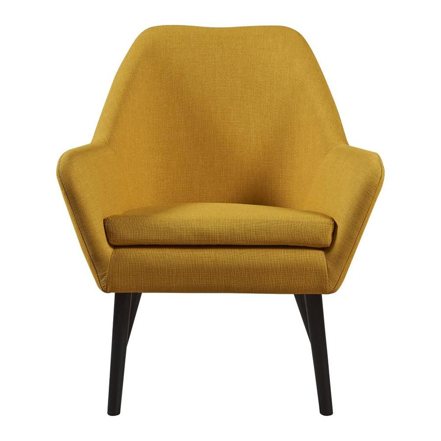 Versanora Divan Casual Mustard Yellow Accent Chair In The Chairs Department At Lowes Com