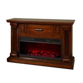 Lifesmart 48-In W 5,100-Btu Burnished Medium Oak Wood Inf...