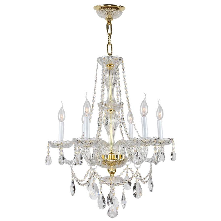 Chandeliers At Lowes: Shop Worldwide Lighting 6-Light Crystal Chandelier At