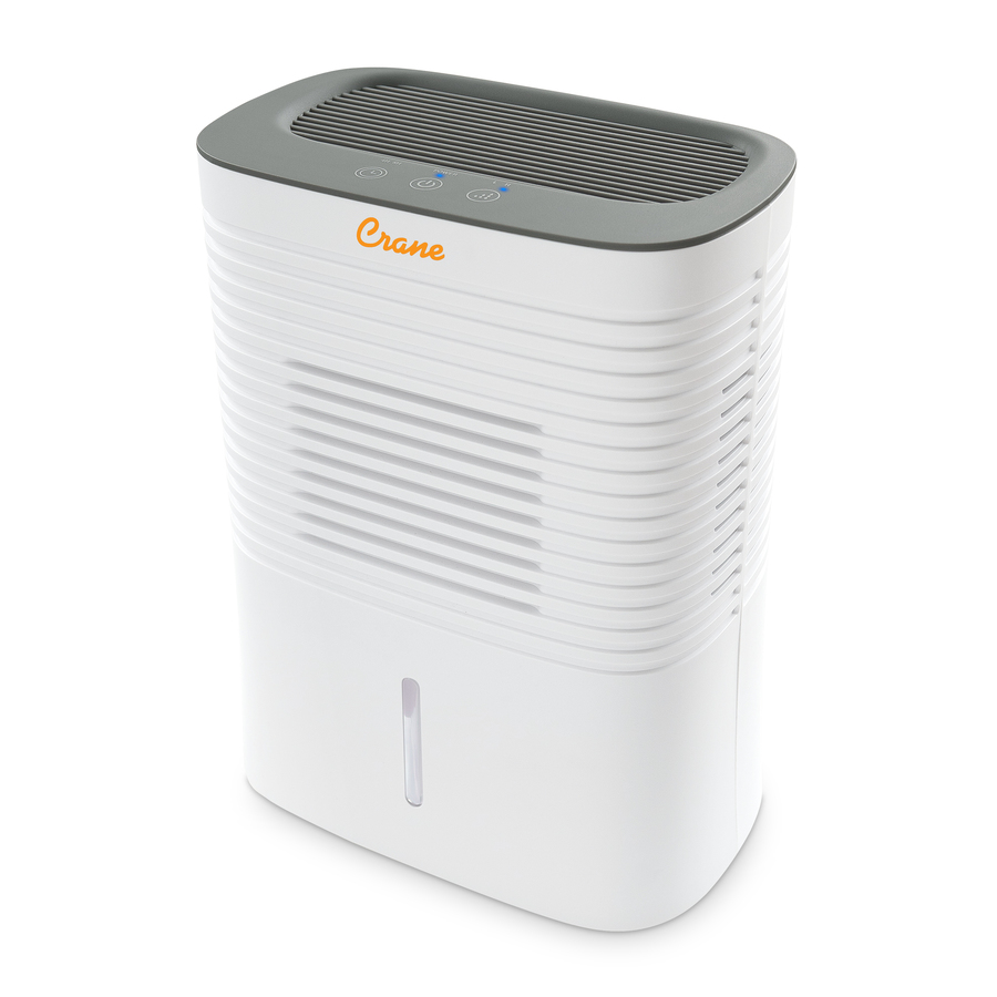 CRANE EE-1000 Portable Dehumidifier in White