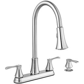 Project Source Stainless Steel  Handle Pull Down Kitchen Faucet