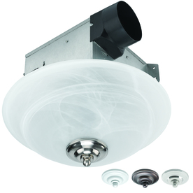 Shop Utilitech 2 Sone 70 Cfm White Bathroom Fan With Light