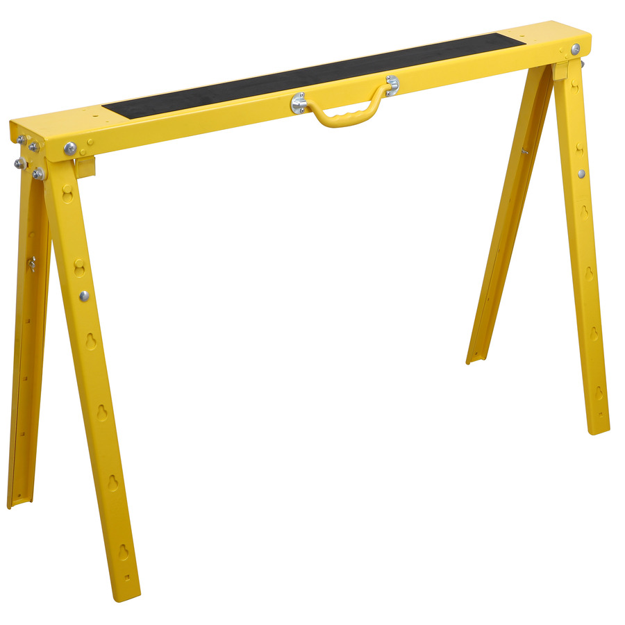 Shop Blue Hawk Folding Steel Adjustable Sawhorse at Lowes.com