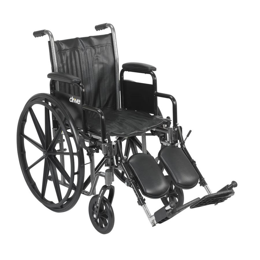 Drive Medical Silver Sport 2 Wheelchair, Detachable Desk Arms, Elevating Leg Rests, 18-In Seat Ssp218dda-Elr