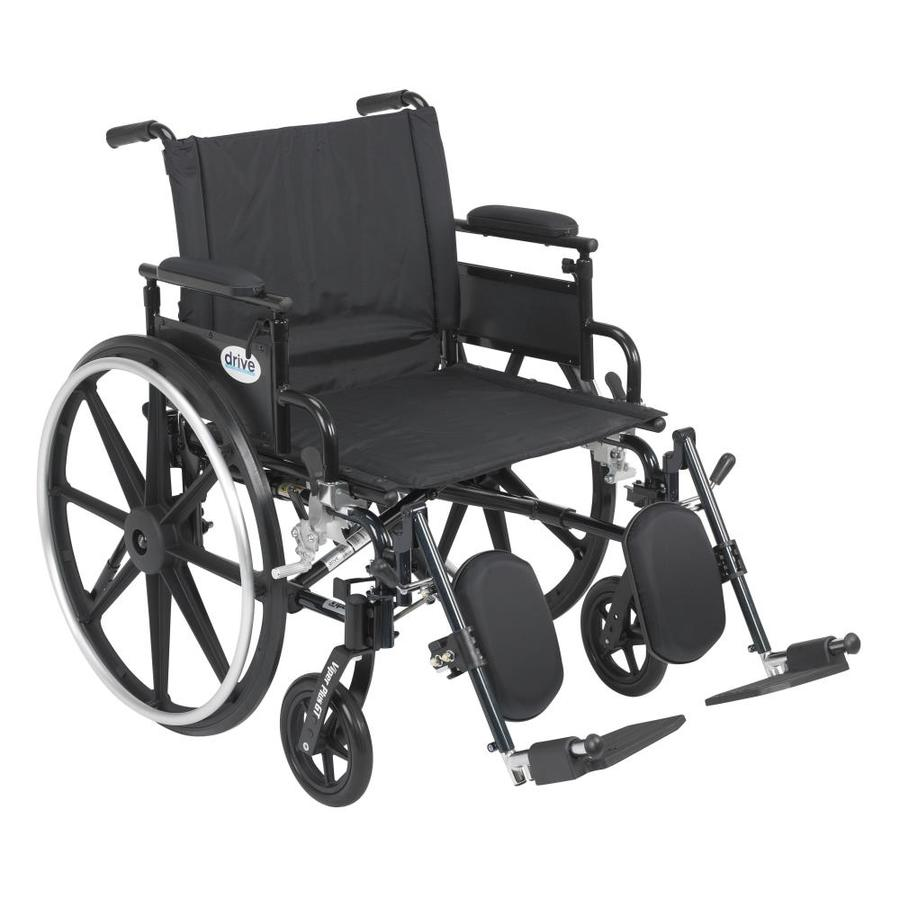 Drive Medical Viper Plus Gt Wheelchair With Flip Back Removable Adjustable Desk Arms, Elevating Leg Rests, 22-In Seat Pl