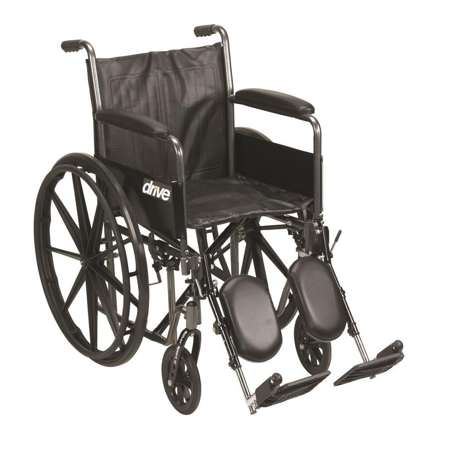 Drive Medical Silver Sport 2 Wheelchair, Detachable Full Arms, Elevating Leg Rests, 18-In Seat Ssp218dfa-Elr