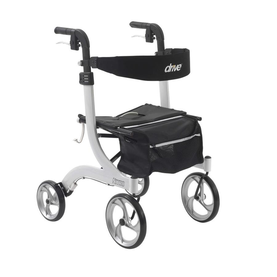 Drive Medical Nitro Euro Style Rollator Rolling Walker, White Rtl10266wt