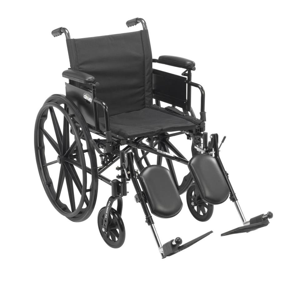 Drive Medical Cruiser X4 Lightweight Dual Axle Wheelchair With Adjustable Detachable Arms, Desk Arms, Elevating Leg Rest