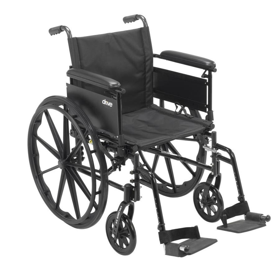 Drive Medical Cruiser X4 Lightweight Dual Axle Wheelchair With Adjustable Detachable Arms, Full Arms, Swing Away Footres
