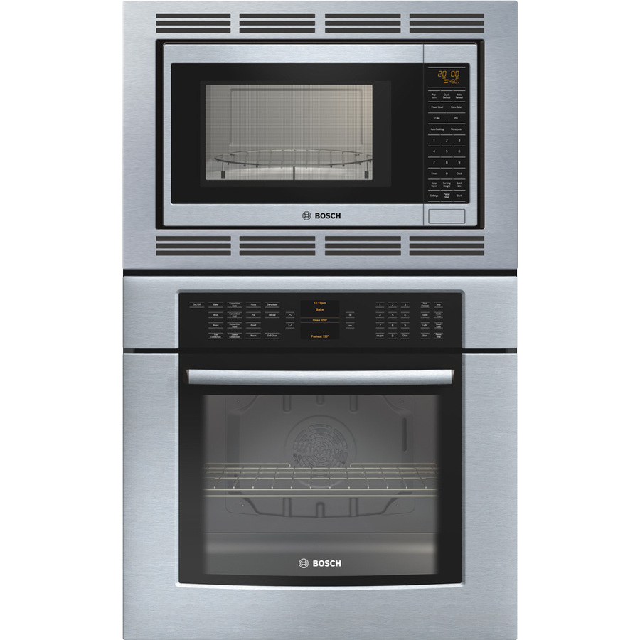 Bosch Wall Oven Microwave Combos: Shop Bosch 29-3/4-in Self-Cleaning Convection Microwave