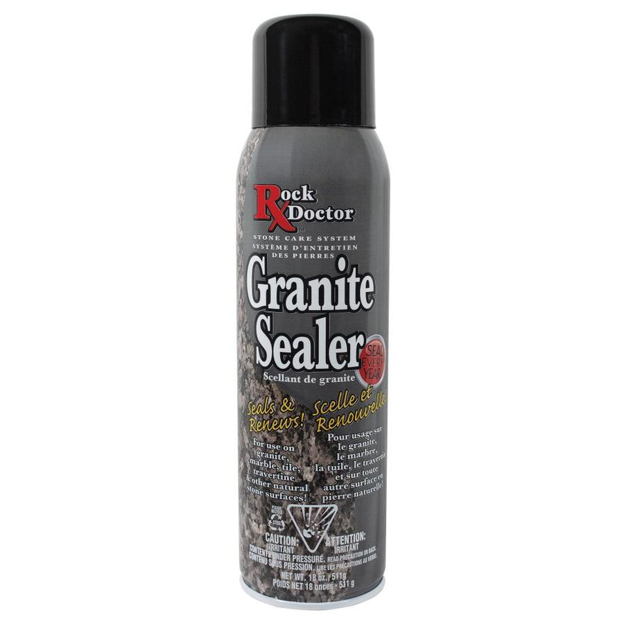 granite countertop sealer lowes shop rock doctor 18 oz granite sealer at lowes 760
