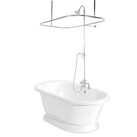 American Bath Factory Nobb Hill 60-In White Acrylic Frees...