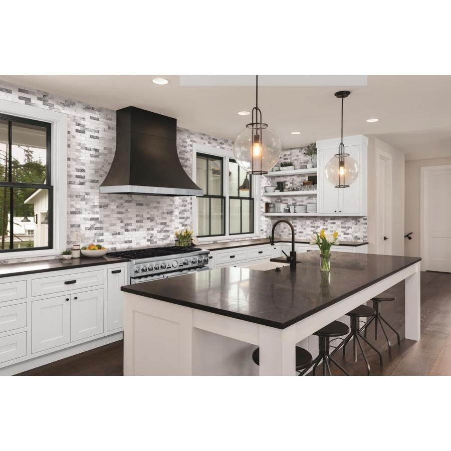 - Satori Storm Polished 12-in X 12-in Polished Brick Marble Look