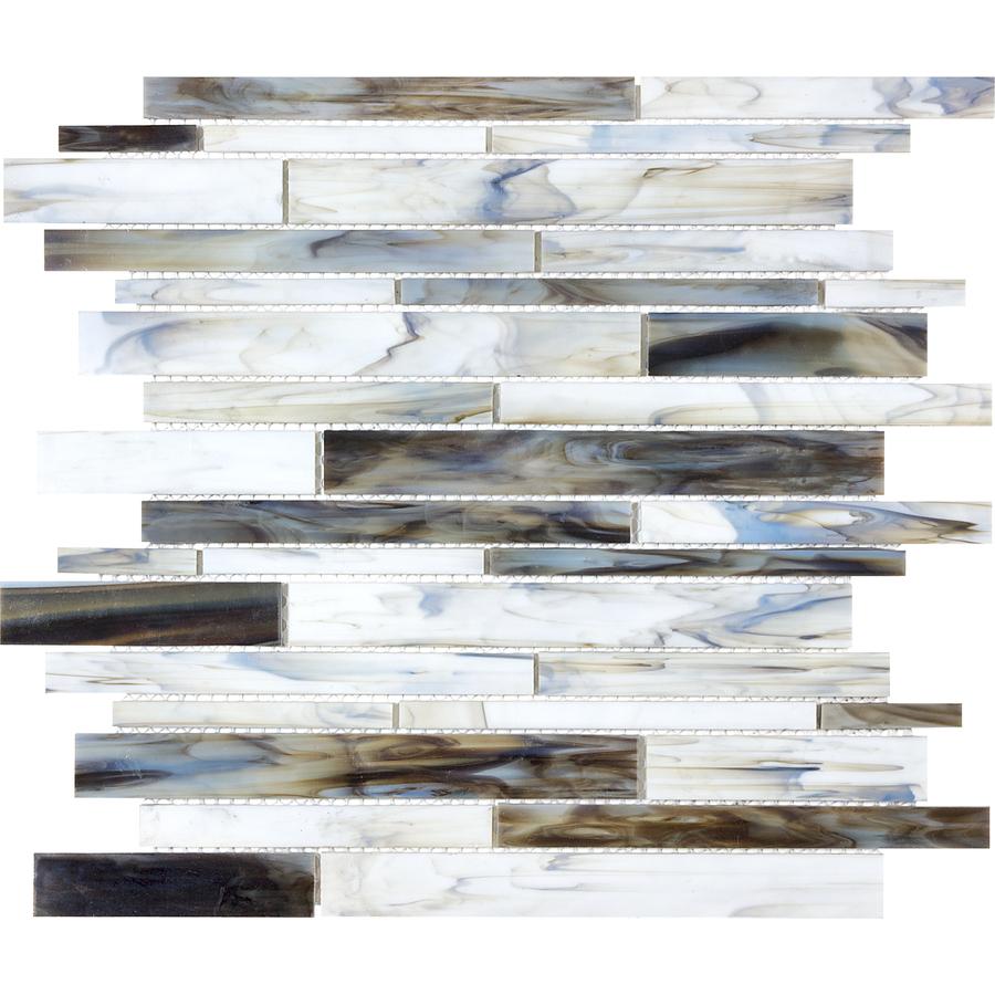 Mosaic Tile Backsplash Lowes: Shop Anatolia Tile Pacific Pearl Glass Mosaic Wall Tile