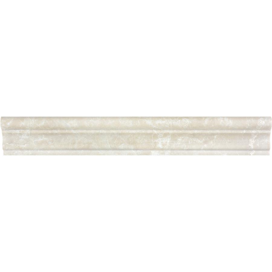 Crema Luna Marble Natural Stone Chair Rail Tile (Common 2
