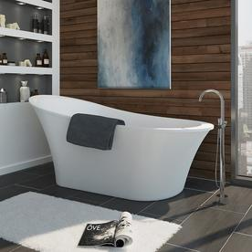 display product reviews for rachel 70in gloss white acrylic bathtub with front center
