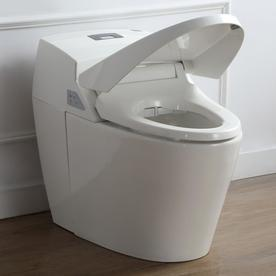 self closing toilet seat lid. Ove Decors Godfrey 1 6 Gpf 06 Lpf White Touchless Elo Self closing toilet  seat lid Plumbing Fixtures Compare Prices Closing Toilet Seat Lid Full Image for Fascinating