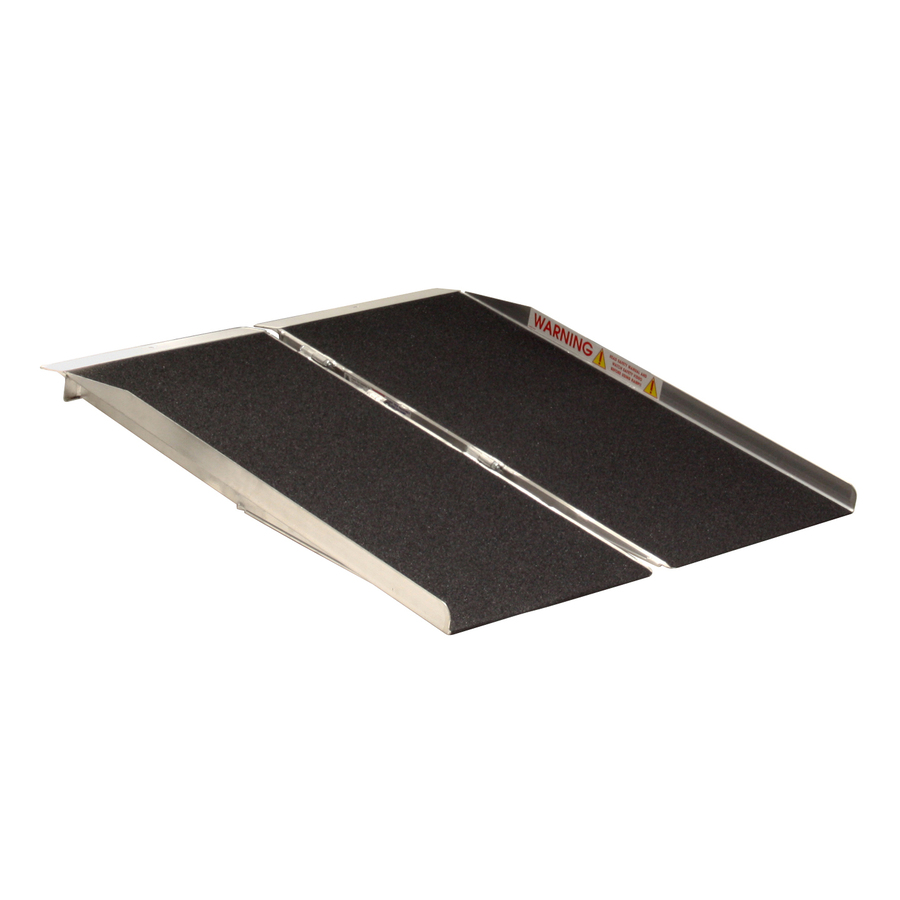 Prairie View Industries 4-Ft X 30-In Aluminum Folding Entryway Wheelchair Ramp Sfw430