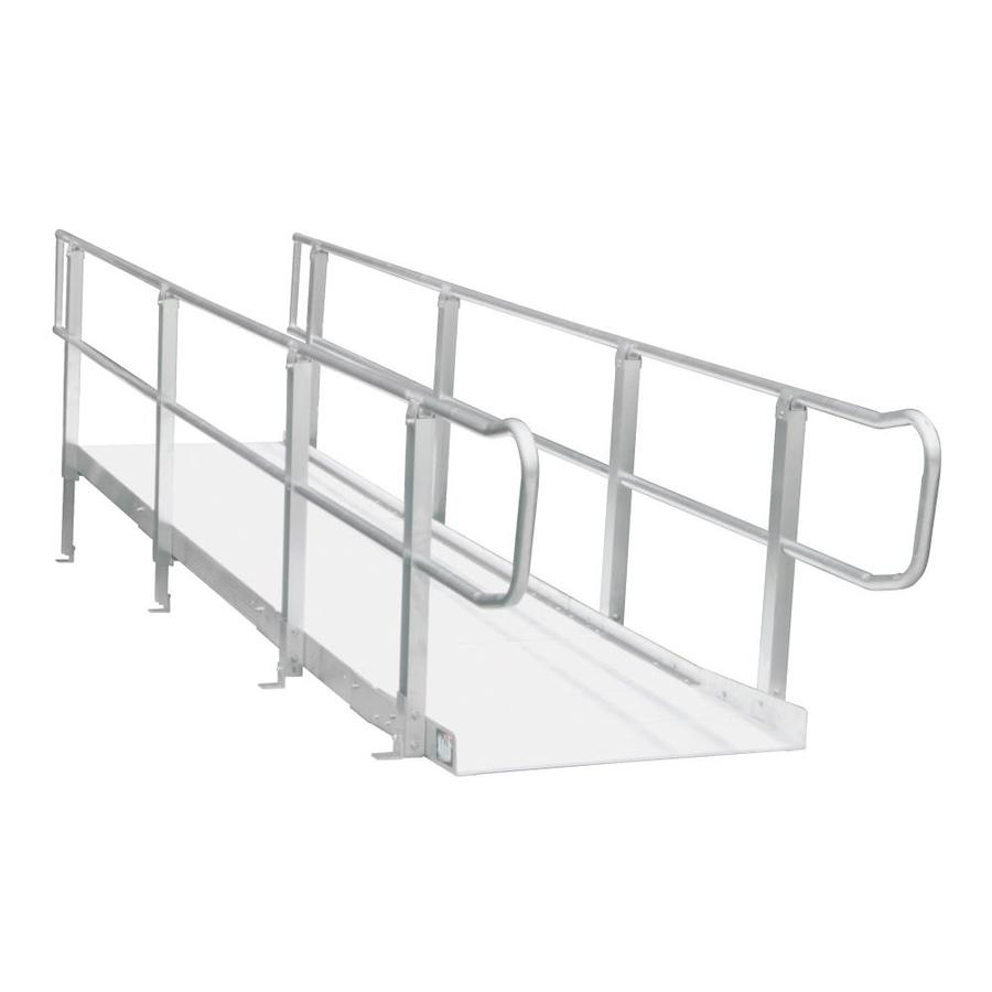 Prairie View Industries 16-Ft X 36-In Aluminum Modular Entryway Wheelchair Ramp Mxp16.0