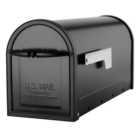Architectural Mailboxes 6-5/8-in x 8-3/4-in Metal Black Post Mount Mailbox