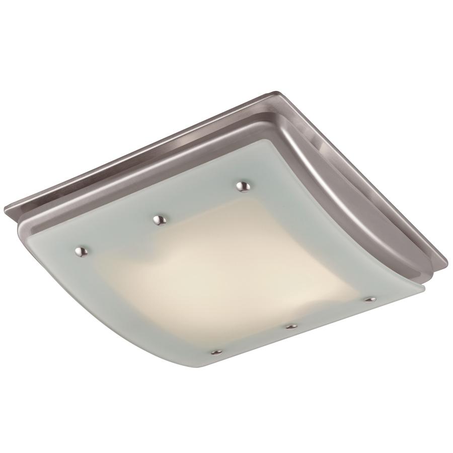 Shop Utilitech 1.5-Sone 100-CFM Brushed Nickel Bathroom