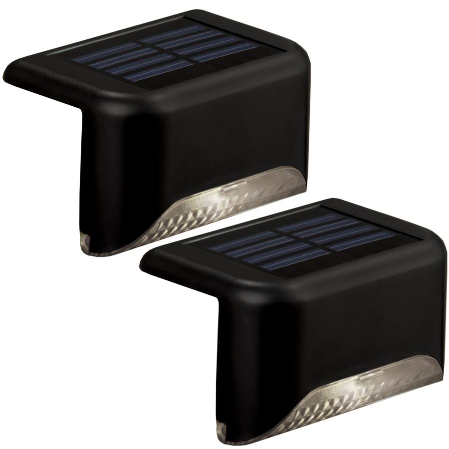 Shop Portfolio 2-Light Black Led Railing Deck Light Kit At