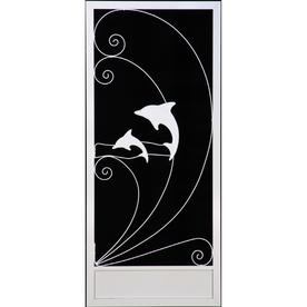 Sun Tek White Plantation Palm Tree Amp Dolphin Screen Door