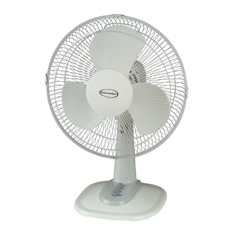 Shop Feature Comforts 12 Quot Oscillating Table Fan At Lowes Com