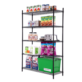 storage shelves lowes style selections 72 in h x 47 7 in w x 18 in d 5 shelf 26891