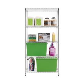 Style Selections 16-In D X 36-In W X 72-In H 5-Tier Steel Freestanding Shelving Unit E4090obh501