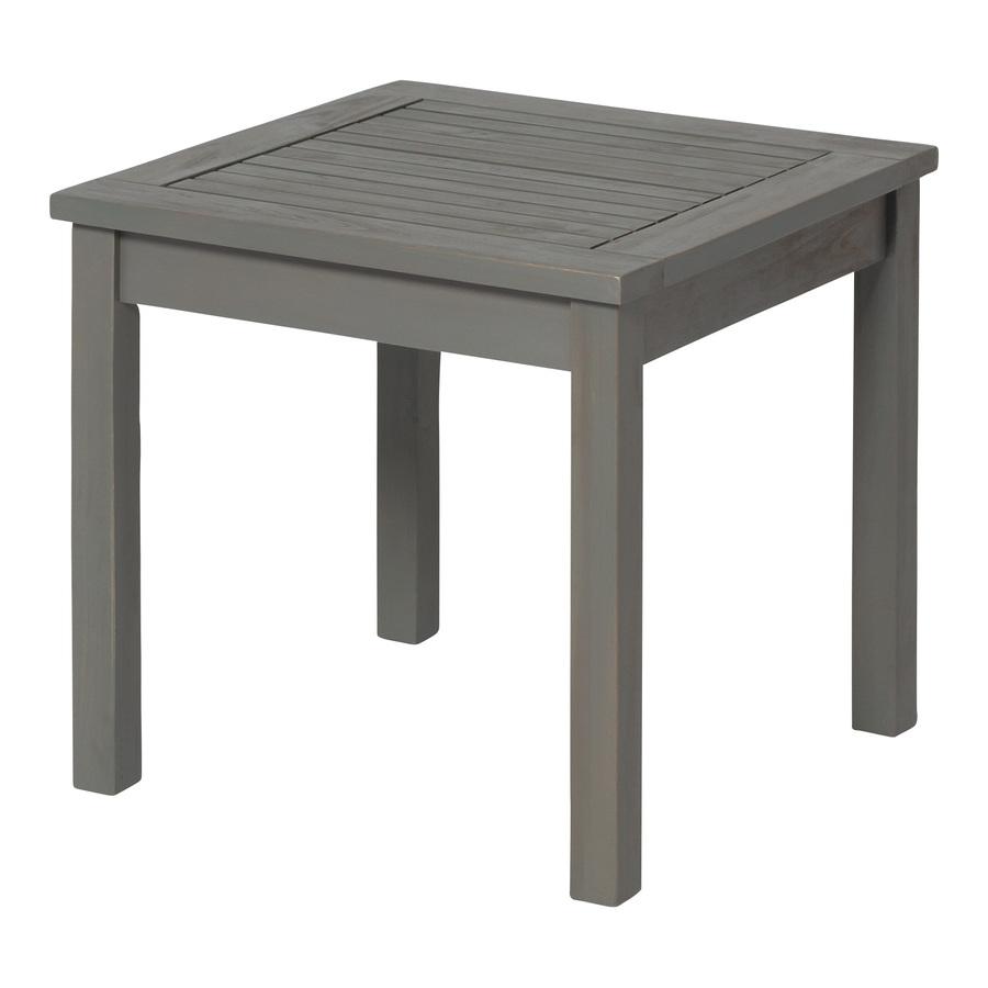 Walker Edison Square Outdoor End Table 20-in W x 20-in L   LWWSSTGW