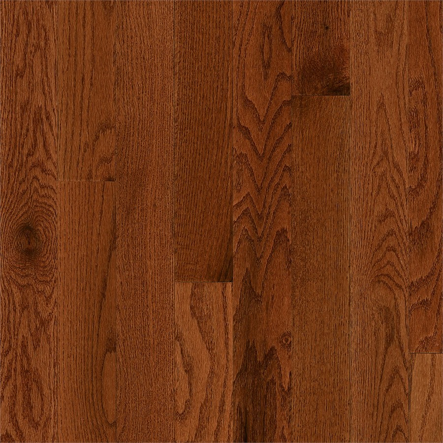 Frisco Prefinished Gunstock Oak Smooth/Traditional 3/4-in Solid Hardwood Flooring Sample in Brown | - Bruce 731OLSKFR29M30S