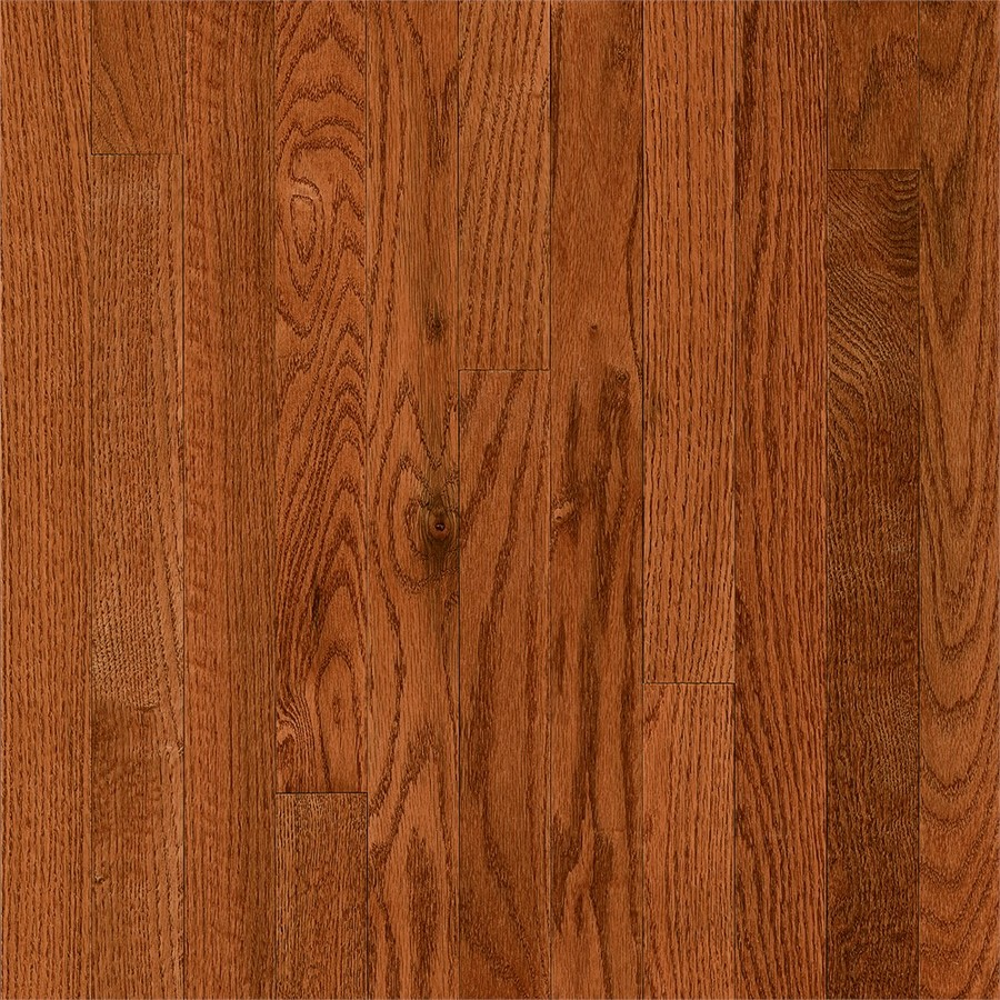 Frisco Prefinished Butterscotch Oak Smooth/Traditional 3/4-in Solid Hardwood Flooring Sample in Brown | - Bruce 731OLSKFR29M10S