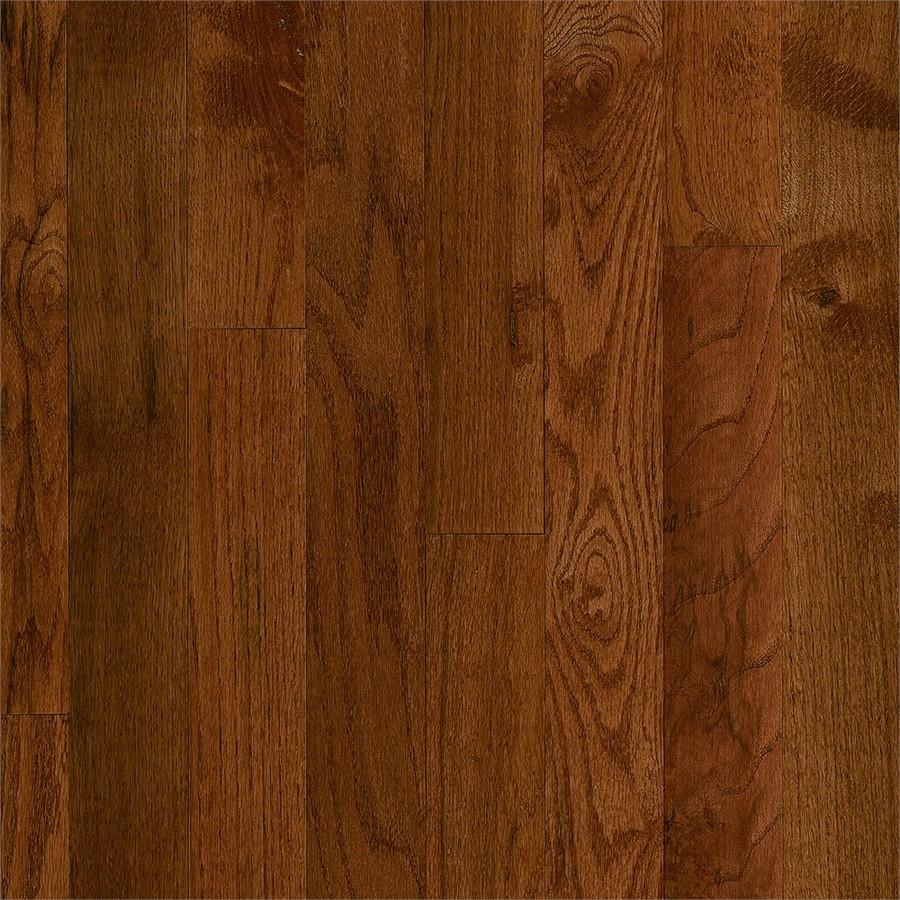 Frisco Prefinished Gunstock Oak Smooth/Traditional 3/4-in Solid Hardwood Flooring Sample in Brown | - Bruce 731OLCB9321
