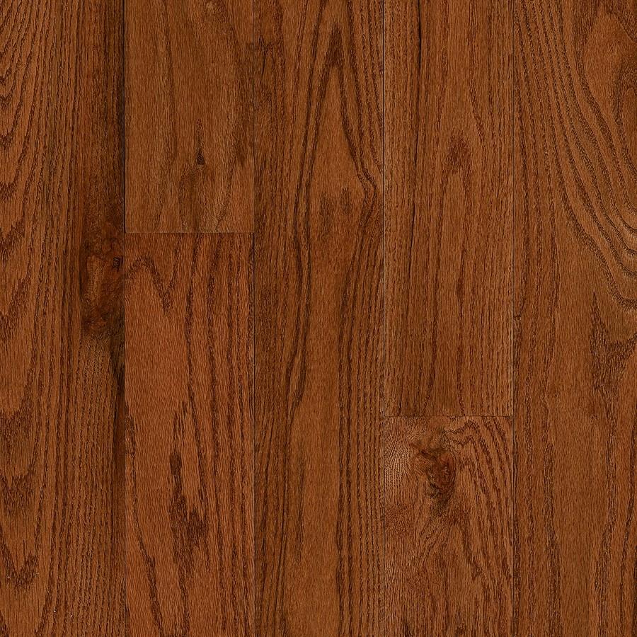 Frisco Prefinished Gunstock Oak Smooth/Traditional 3/4-in Solid Hardwood Flooring Sample in Brown | - Bruce 731OLCB9521