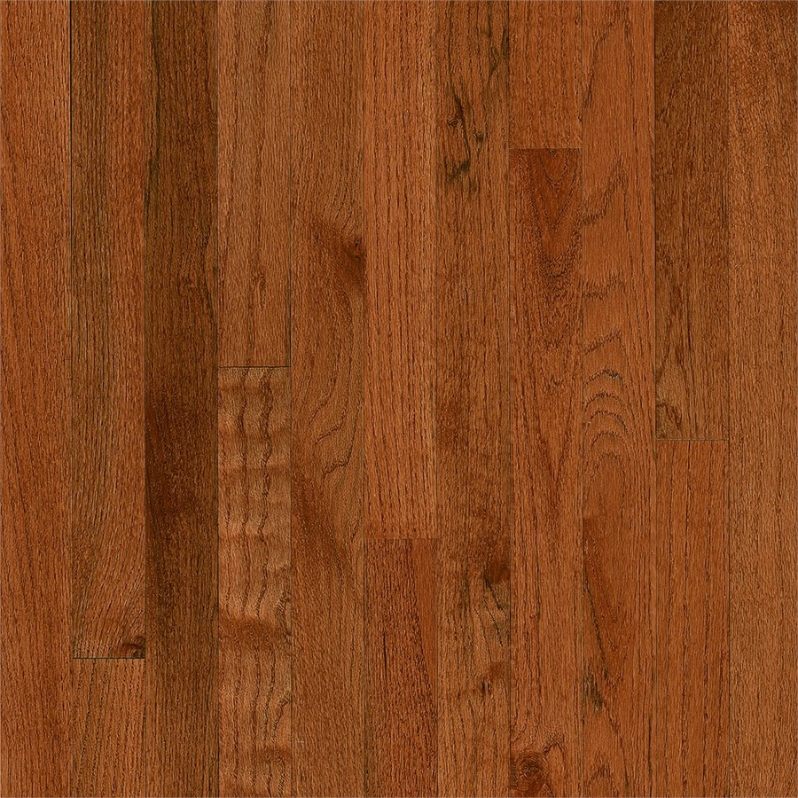 America's Best Choice Prefinished Gunstock Oak Smooth/Traditional 3/4-in Solid Hardwood Flooring Sample in Brown | - Bruce 731OLABC401